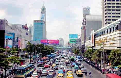 Stossverkehr in Bangkok
